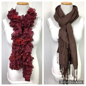 Pair of Scarves Including Casual Corner